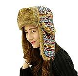 Gorros Unisex Sombrero De Aviador Hombre para Mujer Sombrero De Basic Invierno Sombrero De Piel Sintética Cálido Sombrero De Snowboard De Moda Vintage Gorras Ropa