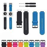 iFeeker Zubehör Einstellbare Soft Silikon Ersatz Armbanduhr Armband für Garmin Approach S2 /S4 GPS Golf Watch/Garmin vivoactive Sport GPS-Smartwatch