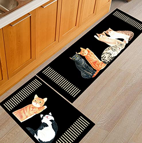 HLXX Alfombra Estampada de Dibujos Animados Alfombra de Puerta Alfombra de Cocina Antideslizante Alfombra de habitación para niños Alfombra de Noche para Dormitorio Alfombra A6 50x80cm