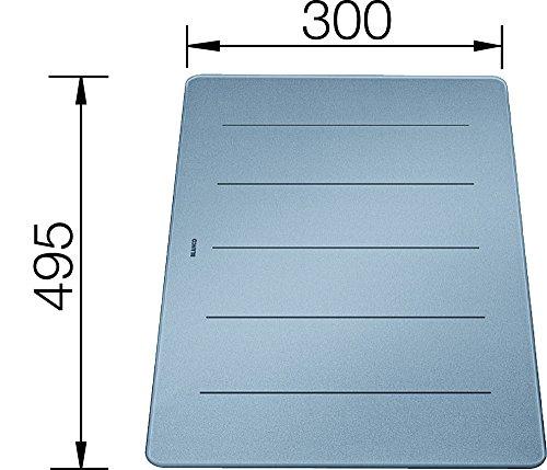 Blanco 227 700 Glas Schneidebrett Silber Schneidbrett Zubehör Spüle Spülbecken