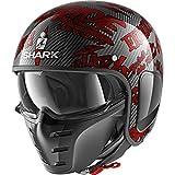 Shark Casco Jet s-drak Carbon Freestyle Cup decorativo rosso DRR Taglia M