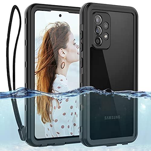 ShellBox Coque Samsung Galaxy A52 5G Etanche 360 Degrés Intégrale Protection Housse Transparent Anti-Rayures avec Protège-écran Etui pour Samsung A52-6.5 Pouces Noir