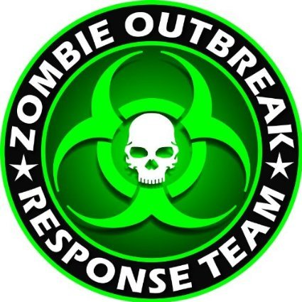 Ritrama Aufkleber Zombie Outbreak Response Team Green Skull Vinyl Auto Laptop Tuning Sticker Heckscheibe LKW Boot 127mm 127mm
