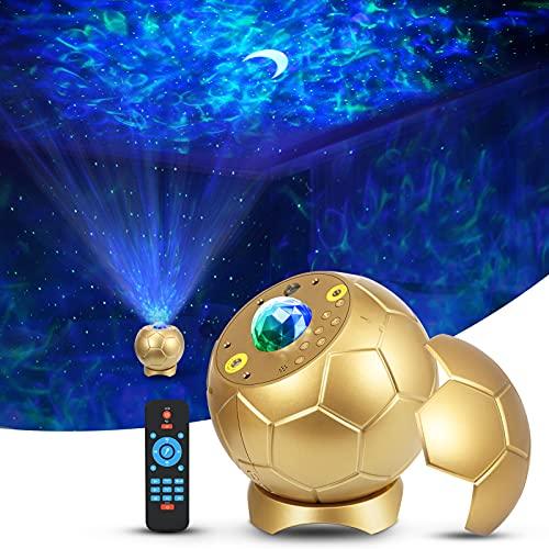 Sternenhimmel Projektor,Enow Sternenlicht Projektor Stern Mond Projektion Ozeanwellen Fußballlichter,Starry Sky Led Projector mit Bluetooth 5.0/Ferngesteuerte/Stimmenkontrolle Für Kinder Erwachsene