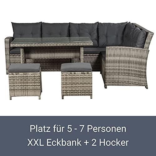 ArtLife Polyrattan Sitzgruppe Lounge Santa Catalina beige-grau – Gartenmöbel-Set mit Eck-Sofa & Tisch – bis 6 Personen – wetterfest & stabil - 4
