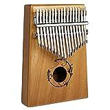 EXTSUD Kalimba Professionale a 17 Tasti in Legno Thumb Piano Pianoforte da Dita con Accessori Sacchetto Istruzione Strumento Musicale Portatile Regalo Festa Natale per Bambini Principianti Adulti