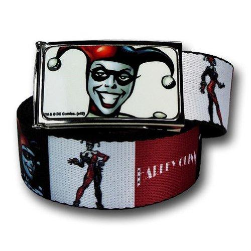 Harley Quinn Rojo Blanco y Negro Cinturón Web Kids