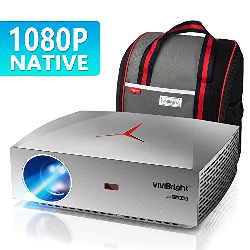 Proyector, VIVIBRIGHT f40 Proyector Nativo Full HD 1080P, 4200Lux Pantalla de 300 ' Proyector de Cine en casa, Altavoz de Alta fidelidad con SPDIF, Compatible con TV Stick, PS4, Xbox, HDMI, USB, AV