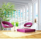 VGFGI Vinilo autoadhesivo moderno espacio tridimensional moderno cielo azul bosque extraíble para muebles decoración de la pared del dormitorio