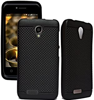 Marely Hudson Dotted Soft Back Cover For Reliance Jio Lyf Flame 6