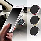 Universal Magnetic Phone Car Mount, Automotive Car Phone Holder for Dashboard, Adjustable Magnet Cell Phone Mount Compatible with Most Smartphones
