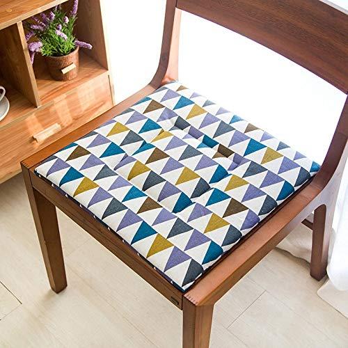 FEIYI Cojines de asiento de 38 x 38 cm, estilo nórdico, de calidad para silla de comedor, cuadrados, tatami, butaca, cojín transpirable (color: triángulo, especificación: alrededor de 38 x 38 cm).