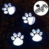Outdoor LED Solar Garden Path Lawn Yard Decor Lamp, Solar Dog Cat Animal Paw Print Lights (Solar Paw)
