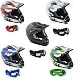 XP-14B Moto CASCHI GSB MX Casco Cross Racing, Motocicletta Casco da Corsa, off Road Quad Scooter...