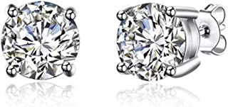 GIVA 925 Sterling Silver Classic Zircon Earrings | Studs for Women & Girls | With Certificate of Authenticity and 925 Hall...