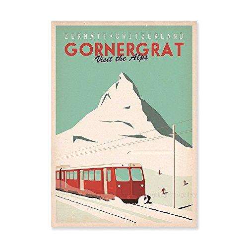 Schweiz, Travel Poster, Zermatt, Gornergrat, Matterhorn, Alpen, Zug, Berge, Reise
