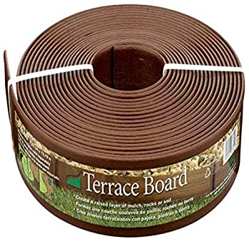 Master Mark Plastics 93340 Terrace Board Landscape Edging Coil 3 Inch by 40 Foot Brown