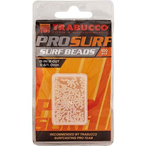 Trabucco Perline Montaggio Lenza PRO Surf Beads White Diametro Interno 0.9 mm Diametro Esterno 2.0 mm da Pesca
