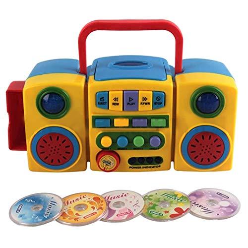 Seciie CD Player für Kinder, Kinder CD Spieler Tragbar mit 5 CD Musikinstrument Spielzeug für Kinder ab 3 Jahre