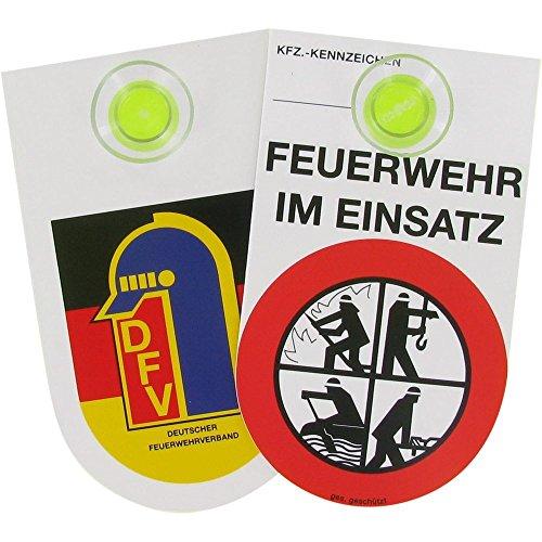 Innenschild Feuerwehr im Einsatz inkl. Saugnapf
