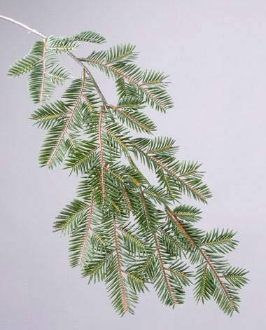 artplants.de Künstlicher Tannenzweig YANTO, grün, 65cm - Künstliche Tanne - Kunstzweig