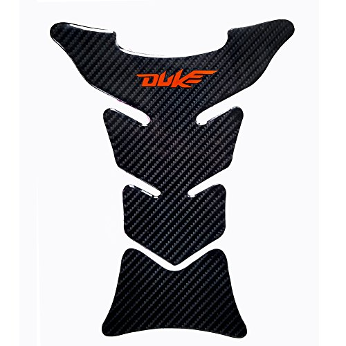 Motorcycle Sticker Accessories 8.8 inches Real Carbon Fiber Fuel Gas Tank Protector Pad for KTM Duke 125/200 / 250/390 / 690