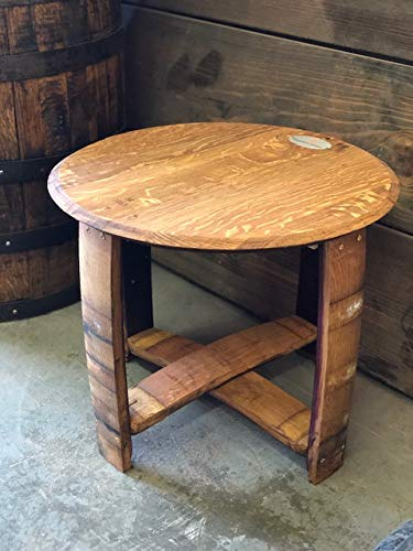 Wine Barrel Side Table