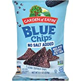 Garden of Eatin' Blue Corn Tortilla Chips, No Salt Added Blue Chips, 8.1 Oz (Pack of 12)