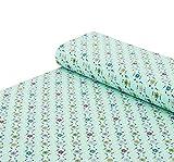 Nadeltraum Baumwoll - Jersey Stoff Blumen Punkte Mint -