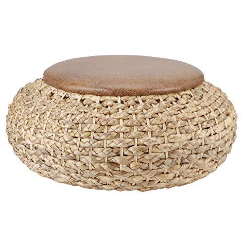 Cojín de césped tejido natural, cojín redondo trenzado, cojín redondo de paja natural, para silla, piso, silla de comedor, silla de oficina, sofá o cualquier lugar de su hogar