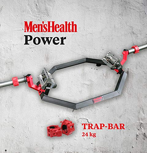 Men's Health POWER Trap Bar | Passend zu Scheiben mit 50mm+ 25mm (mittels Adapter) | Inkl. 2 Schnellverschlüssen für unkomplizierten Gewichtswechsel