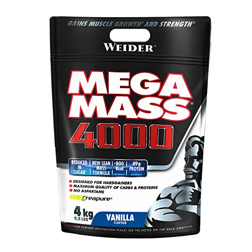 Weider Mega Mass 4000 Protein Supplement Vanilla 4 kg
