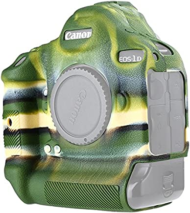 Canon EOS 1DX Mark II Protective Case Professional Silicone Rubber Camera Housing Case Cover Detachable Antiscratch shockproof Full body Protective case for Canon EOS 1DX mark II ( Army Green)