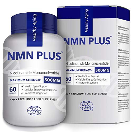 500MG NMN Capsules, Strongly Support Mental Performance & Anti Aging, Nicotinamide Mononucleotide for NAD Supplement, Third Party Test