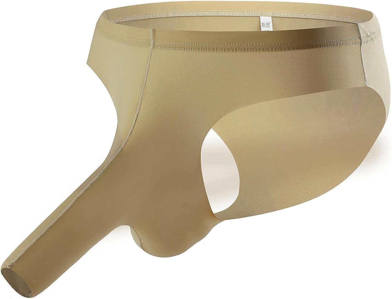 Mens Underwear Sexy Elephant Nose: Men Briefs Underwear Breathable Loose Ice Silk Low Rise Underpants