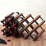 FENGFAN Le support libre de support de bouteilles de vin en bois de supports à bouteilles étagère le stockage pour la cave à vin de bar