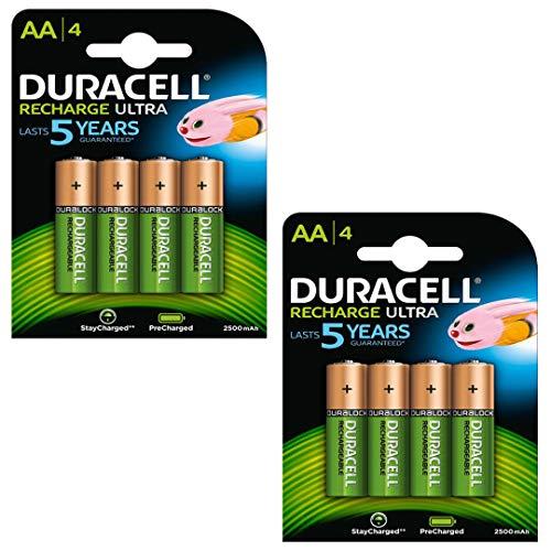 Duracell Duralock Akku PreCharged (AA, HR6, 1,2 Volt, 2500mAH) 8 Stück