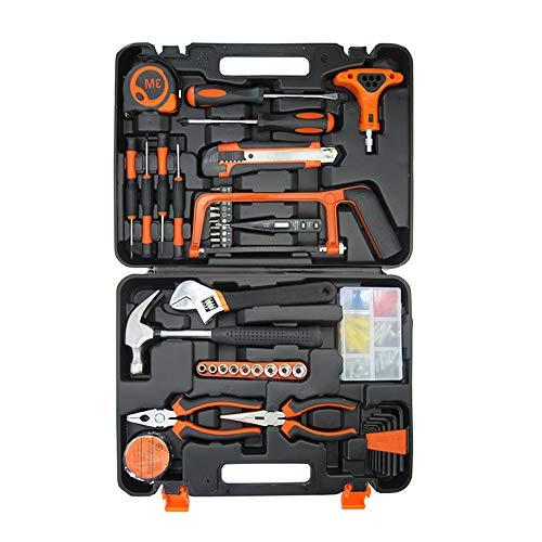 BAOYOUNI ホームツールセット 工具セット 家庭用 工具箱 道具セット ツールキット 家庭修理 DIY用 家具組み立て 住まいのメンテナンス用 (82点セット)
