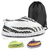 FRENCH HYPE - Zapatillas deportivas para hombre y mujer, diseño de zapatillas de estilo Yeezy en 3 colores (talla única 36 a 43), Blanco (blanco), 43 1/9 EU Large