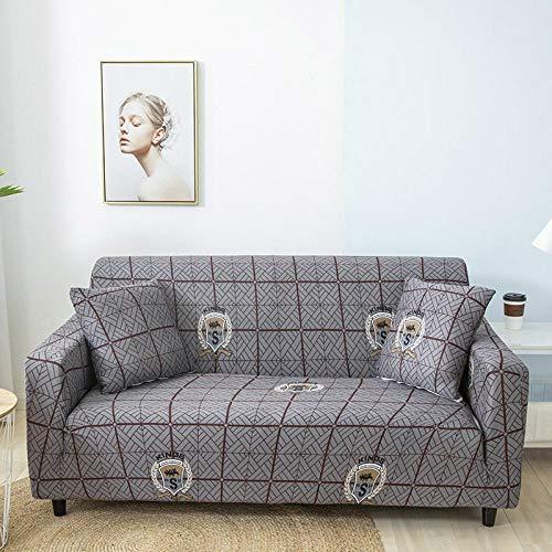 England, grå stretch sofföverdrag polyester spandex tryckt soffa överdrag 4-sits halkfri soffa skydd universal sofföverdrag möbler skyddande fodral