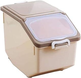 AWAING Bocaux Céréales Sceller les récipients en plastique 10/15 kg de céréales Coupe Cuisine de mesure Conteneurs de riz ...