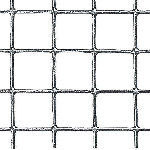 Verdemax Rollo de Malla Cuadrada de Metal galvanizado 9034 de 1m x 5m Color Gris