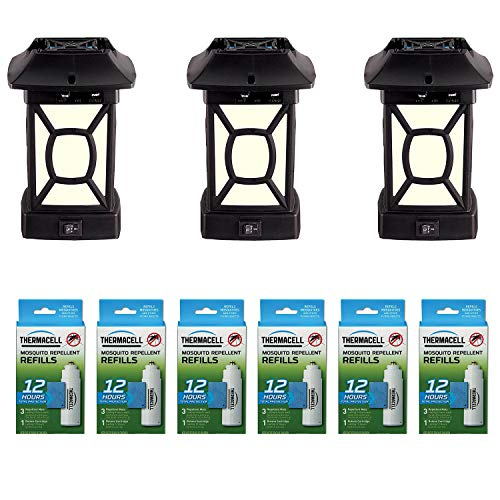 Thermacell MR9W Bug Pest Control Lantern (3 Pack) Bundle with Mosquito Repeller Refill (6 Pack)