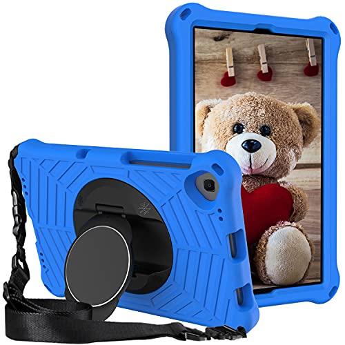 """XunyLyee Custodia Cover Compatibile con Lenovo Tab M10 FHD Plus 2nd Gen TB-X606F TB-X606X, [Con 360 Rotating Stand e tracolla] Cover per bambini Antiurto con per Tab M10 FHD Plus 10,3""""- blu"""