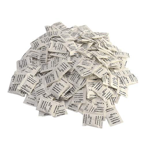 KOET - Sacchetti di essiccazione in gel di silice, 200 x 1 grammo per assorbitori di umidità e deodorazione, per agenti secchi, a prova di umidità e non tossici per la prevenzione di muffe/corrosione