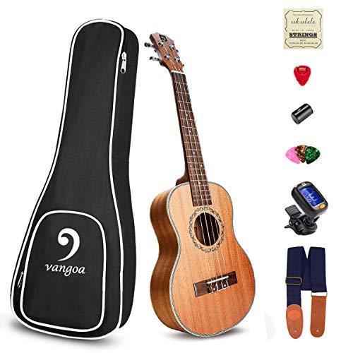 Ukulele Concert Mahogany 23 inch Premium Acoustic Ukulele Vintage for Beginners Bundle Best Ukelele...