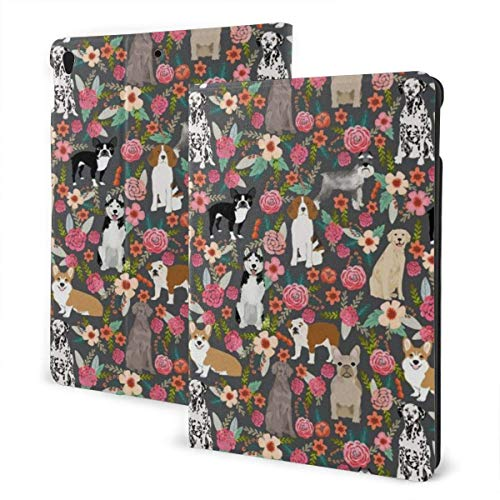 liukaidsfs Cool Dogs Florals Slim Lightweight Smart Shell Stand Cover Case for iPad Air3 & pro (10.5-Inch,Auto Wake/Sleep)