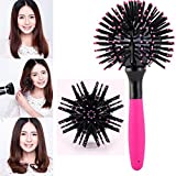 NiceButy spazzola 3D giapponese tonda, arricciacapelli, spazzola antinodo, per donne e ragazze