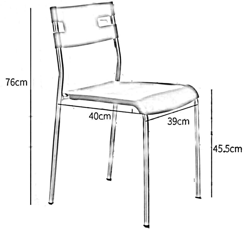 RENJUN Chaise siège Confortable rétro Bureau réception Chaise Dossier 2 pièces Chaise de réunion (Color : Green) Black