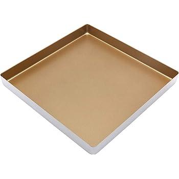Molde cuadrado de 11 pulgadas, molde para hornear de aleación de aluminio antiadherente, molde cuadrado para galletas/horno tostador (28 x 28 cm): Amazon.es: Hogar